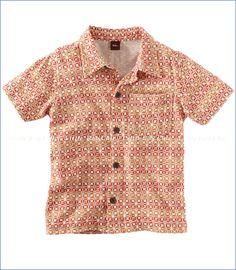 Tea Collection, Pelaga Camp Shirt in Carnelian (c)