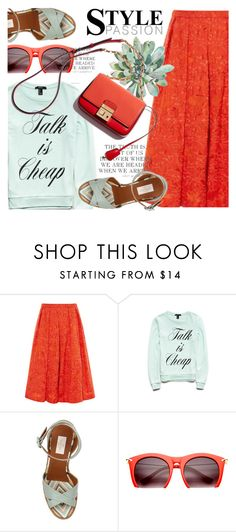 """""""Brunch Maxi Skirt Wedges"""" by jiabao-krohn ❤ liked on Polyvore featuring Forever 21, Valentino, Summer, Spring, Wedges, maxiskirt and brunch"""
