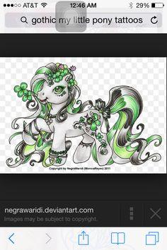 My little pony tattoo ideas My Little Pony Tattoo, My Little Pony Unicorn, My Lil Pony, Tattoo Drawings, I Tattoo, Dark Fantasy, Fantasy Art, Majestic Unicorn, Sugar Skull Tattoos