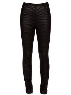Maison Martin Margiela Black Leather Leggings with Fishnet Size UK 8 EU 40 US 4