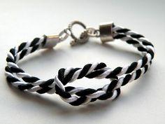 Black/White Rope - bransoleka w Bajobongo na DaWanda.com