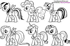 My Little Pony Coloring Pages Rarity | My Little Pony Coloring Pages Printable