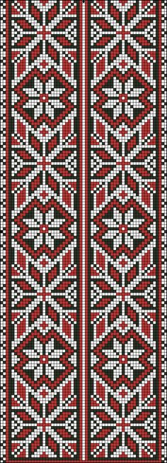 Beading _ Pattern - Motif / Earrings / Band ___ Square Sttich or Bead Loomwork ___ Beaded Cross Stitch, Cross Stitch Borders, Cross Stitch Charts, Cross Stitch Designs, Cross Stitching, Cross Stitch Embroidery, Cross Stitch Patterns, Modern Embroidery, Embroidery Patterns
