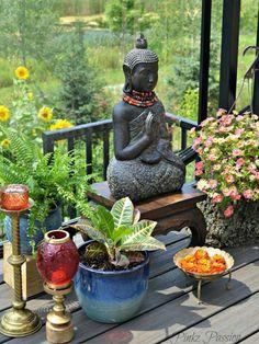 Splendid outdoor garden, zen place, buddha corner, outdoor plants styling, exteriors with Meditation Corner, Meditation Garden, Plantas Indoor, Buddha Home Decor, Zen Place, Corner Plant, Indian Garden, Outdoor Plants, Outdoor Decor