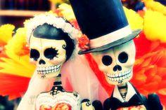 """Dia de Los Muertos: Bride & Groom- """"Til Death Do Us Part""""..."""