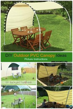 DIY Outdoor PVC Canopy Projects and Instructions, Create adjustable PVC canopy sunshade inspired by suntracking shelter to keep you in shade this Summer via @diyhowto