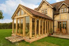Fine Hand Crafted, Oak Framed Sunrooms From Oakmasters - UK Home Ideas Style At Home, Porch Uk, Oak Framed Extensions, Carpentry And Joinery, Oak Framed Buildings, Oak Frame House, Garden Buildings, Decks And Porches, Cozy House