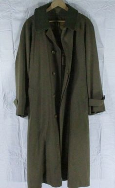 af170f736d2ad3 Burberrys Of London Olive Green Men s Trench Coat R40 Removable Lining   fashion  clothing