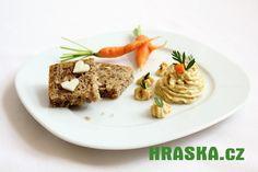 Pomazánka z HRAŠKY a syrového celeru a mrkve I Foods, Beef, Spreads, Meat, Sandwich Spread, Steak