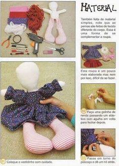***Juguetes de Trapo***: Patrones para hacer muñecas de trapo.