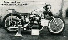 "Dewey's ""World Record"" breaking drag bike."