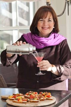 Ina Garten - my favorite 'Food Network' chef!  She's warm, real and her food is wonderfully doable!