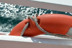 Seafaring in Istanbul // lifebelt // orange