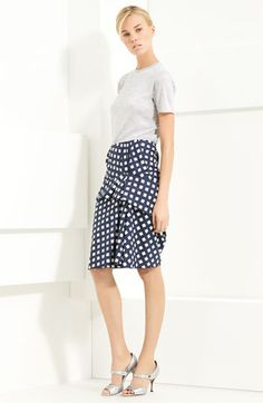 Beautiful Marc Jacobs skirt paired with a simple cashmere tee