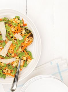 Salade de pâtes aux agrumes et roquette Recettes | Ricardo