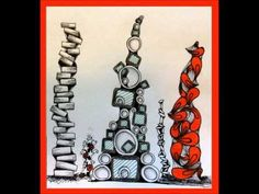 Zendoodled Repeat Pattern Stacks tangle pattern by Cindy Angiel . fun for decorating cards and walls and just about anything! Tangle Doodle, Tangle Art, Doodles Zentangles, Zen Doodle, Doodle Art, Doodle Patterns, Zentangle Patterns, Elements Of Art, Doodle Drawings