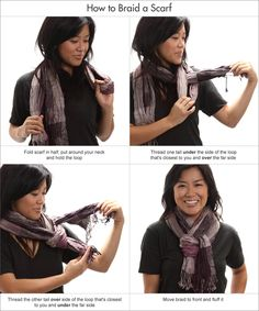 how to braid neck scarf | How to braid a scarf | Scarves