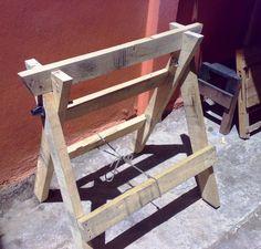 Caballete con madera de embalaje. Por MrJcast. (7)