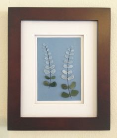 Genuine sea glass art, pebble art, lupine flower, home decor, beach decor, wall art decor, unique gift, wall hanging