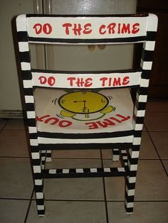 time out chair, i am making one of these!!! i found 3 chairs in the basement!