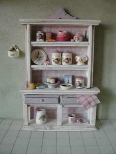 Shabby chic cupboard 112 scale by cipugna on Etsy, $38.00