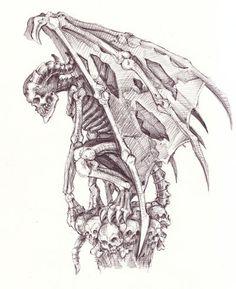 Gargoyle Drawings | Bone gargoyle by ~BorisEdikhanov on deviantART