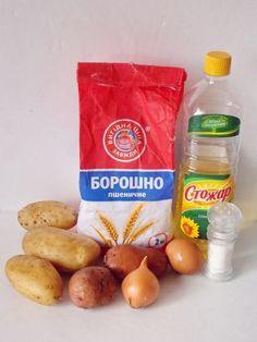Ингредиенты для картофельных дерунов — драников