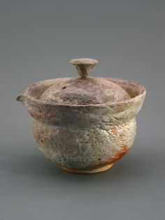 Shiboridashi Teapot, wood-fired sandy stoneware with shino glaze.. $34.00, via Etsy.