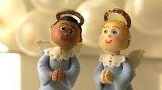 Anjinhos em Biscuit - Decoração Batizado