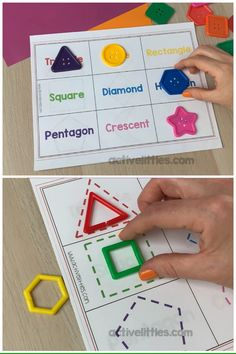 Shape Activities for Toddlers and Preschool This shape printable activity is perfect for toddlers and preschool children! Perfect for a fun hands on learning activity at home! Preschool Activities At Home, Numeracy Activities, Preschool Learning Activities, Toddler Activities, Hands On Learning Kindergarten, Preschool Number Activities, Learning Activities For Toddlers, Shapes For Toddlers, Preschool Shapes