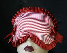 Nautical Sleep Mask Eye mask Burlesque Satin Red and White stripes Micheline by Love Me Sugar Eye Masks, Vintage Marketplace, Red And White Stripes, Sleep Mask, Burlesque, Nautical, Satin, Sugar, Handmade