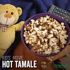 Sweet and spicy Hot Tamale popcorn recipe is a healthier (and tastier!) alternative to candy and a great snack for kids!