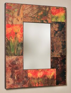32 x 25 Copper And Metal Border Mirror by paulrungstudio on Etsy, $385.00
