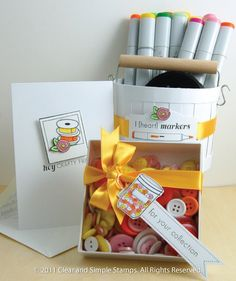 Clean & Simple stamps: Craft Room and Crafty Sentiments