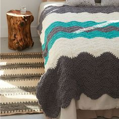 Bernat® Blanket™ Shadow Waves Crochet Blanket