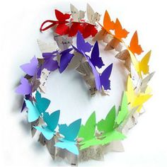 How to Make a Paper Butterfly #stepbystep