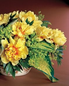 "Tree Peony Arrangement  ""Sometimes you don't want to just isolate a special flower, such as a tree peony floating in a bowl,"" says Kevin Sharkey. ""You want it to have some friends, but it helps to have a plan or structure."""
