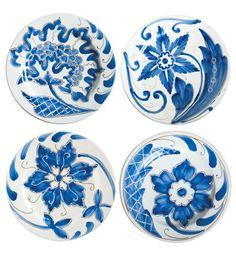 VIETRI - Blu Bianco Assorted Salad Plates