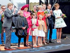King Willem-Alexander, Queen Maxima, Princess Amalia, Princess Alexia and Princess Ariane, Prince Constantijn and Princess Laurentien and Princess Marilene and Prince Maurits attend the Koningsdag (King's Day) in Dordrecht, The Netherlands, 27 April 2015. Dutch Royal Family Attends King's Day Celebrations on April 27, 2015 in Dordrecht, Netherlands.