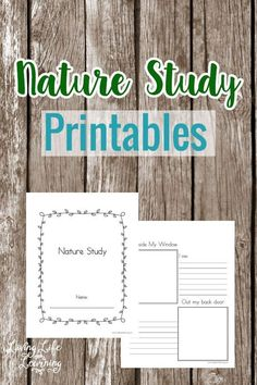 Bring outdoors inside and learn from your surroundings with these nature study printables.