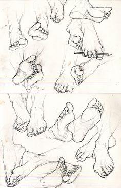 eatsleepdraw: A study of feet.