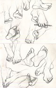 eatsleepdraw: A study of feet.