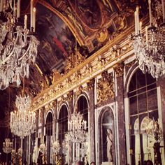 The hall of mirrors in Versailles #travel #france