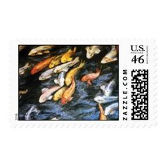 Koi Fish Postage Stamps