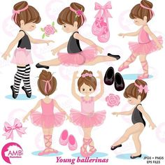 Soooo cute! Newest lack off the table! Little cute ballerinas #ballerinaclipart #digitalscrapbooking #handmade #balletclipart #cricut