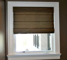 These shades can be constructed from virtually any fabric that would be appropriate for draperies, but they are an alternative to draperies that is lighter and usually less costly. #romanshades #windowtreatments