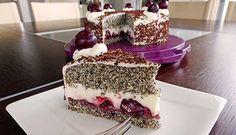 Luxusní dort vhodný na oslavy narozenin. Makové dorty jsou prostě top! Mňam! Slovak Recipes, Cherry Cake, Diy Food, Tiramisu, Sweet Tooth, Birthdays, Cooking Recipes, Sweets, Cheesecake