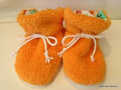 Baby Booties by SewManyBooties on Etsy, $11.00