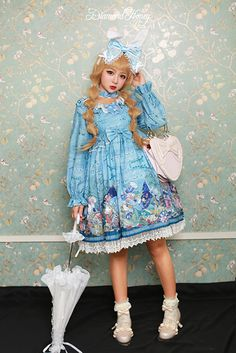 Diamond Honey -Alice and The Mad Hatter- Lolita OP Dress