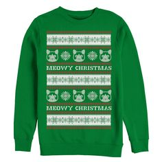 #Christmas Additional recommend Men's Ugly Christmas Sweater Cat Repeat Kelly Green Sweatshirt for Christmas Gifts Idea Shop . On the web buying fantastic Christmas   presents generally is a incredibly enlightening practical knowledge, together with many not only customized presents but additionally one of a kind presents. Th...